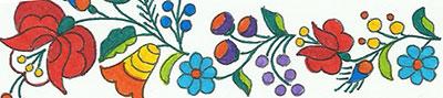 Csodálatos kalocsai Színező könyv