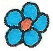 kalocsai kék nefelejcs a színező könyvől