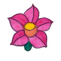 rózsaszín kalocsai virág a színezőből