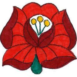 kalocsai rózsa a színező könyvből